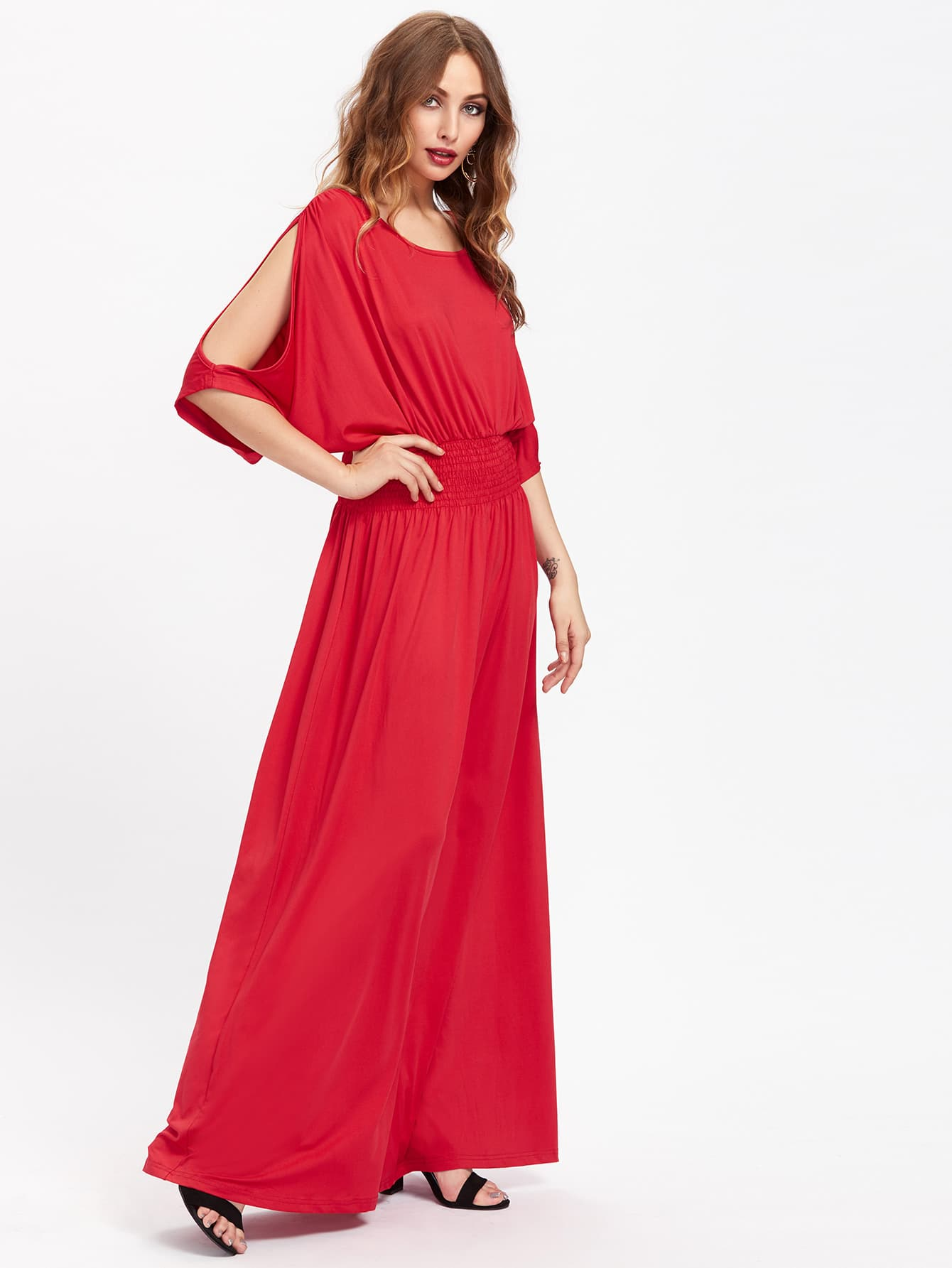 Фото Split Sleeve Full Length Kaftan Dress. Купить с доставкой