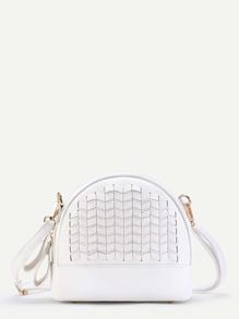 Bolso de hombro de pu con solapa y diseño geométrico