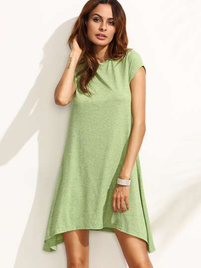 Asymmetrical Swing Tee Dress