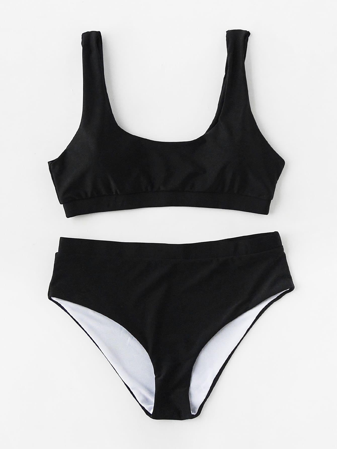 Scoop Neck Bikini Set