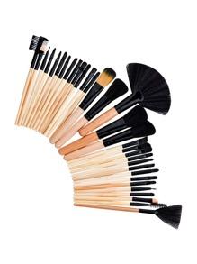 Wood Handle Delicate Makeup Brush 32pcs