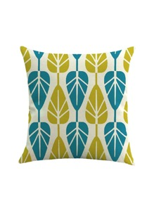 Two Tone Leaf Print Pillowcase Cover