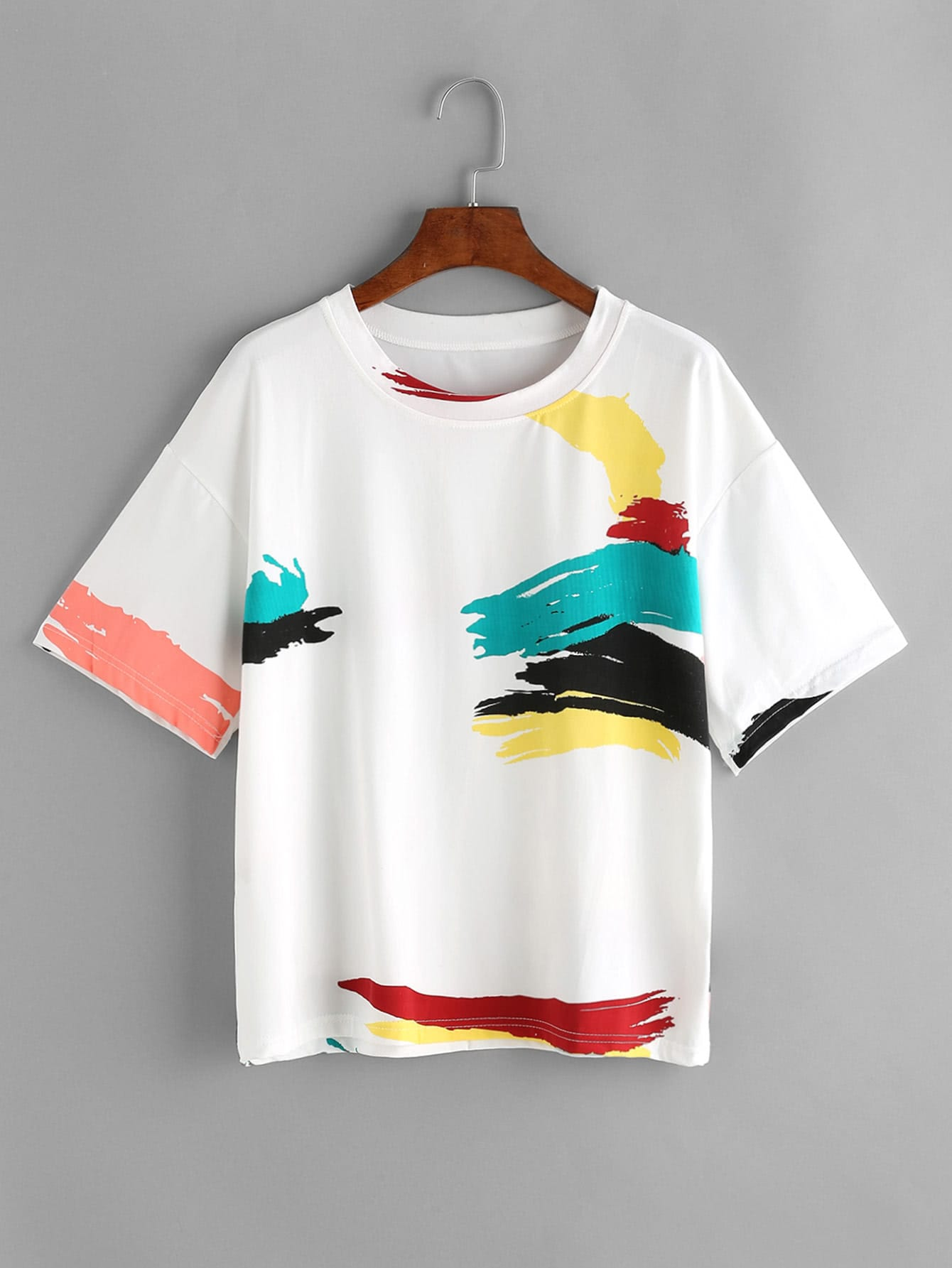White Graffiti Print T-shirt thumbnail