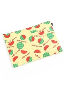 Watermelon Print Slim Accessory Pouch