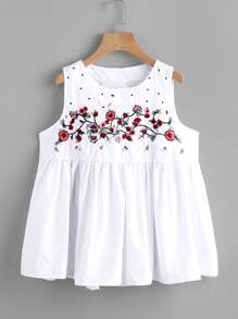 Embroidery Smock Blouse