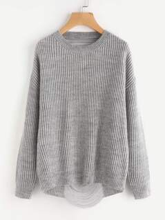 Marled Knit Ladder Back Jumper