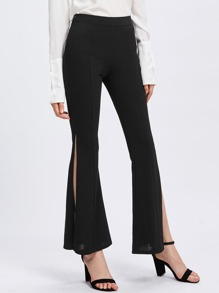 Split Side Tailored Flare Pants