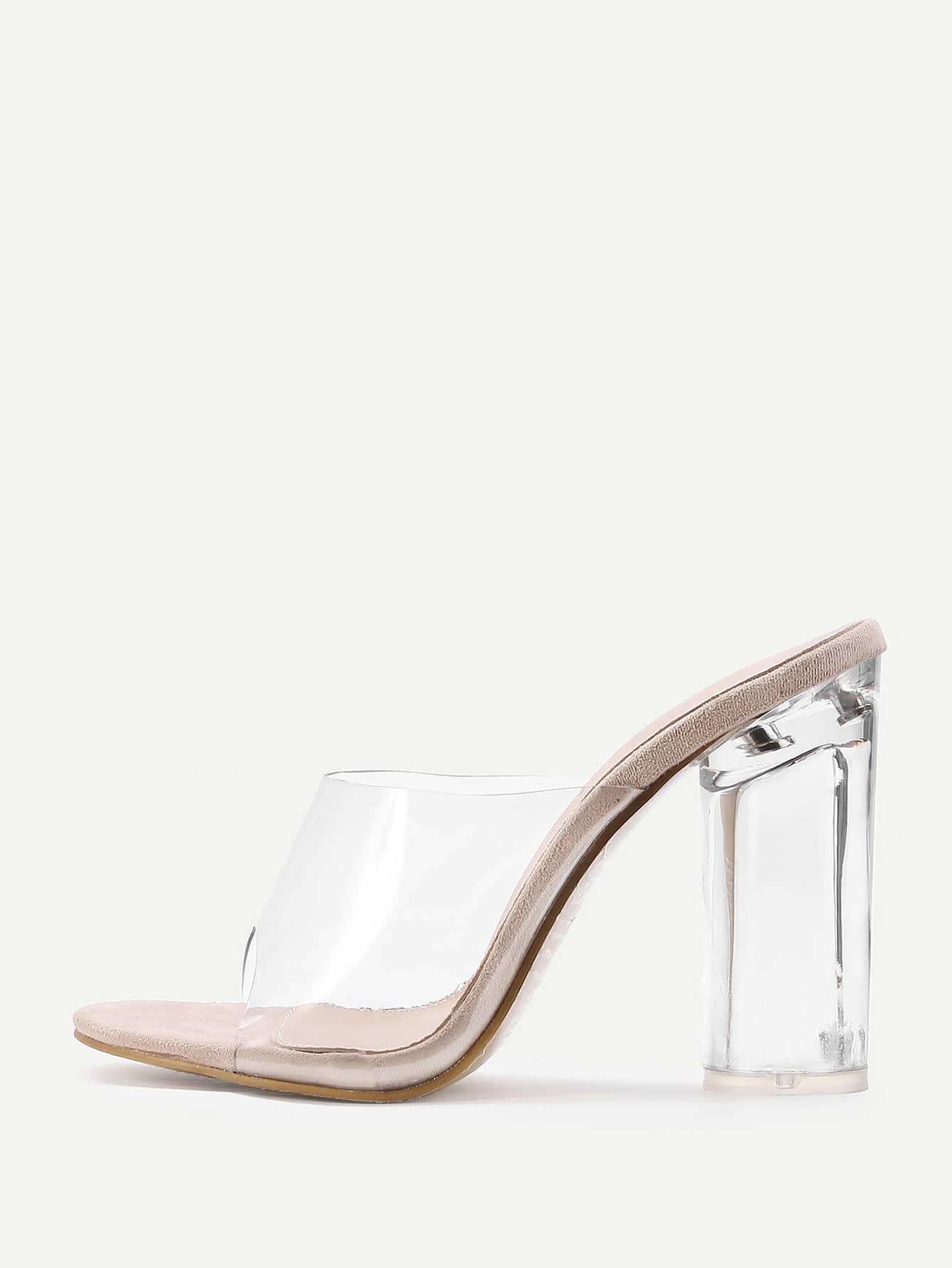 Фото Clear Design Block Heeled Sandals. Купить с доставкой