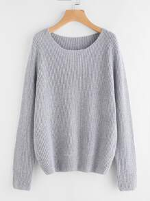Marled Knit Loose Fit Jumper
