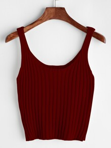 Ribbed Tank Top SHEIN