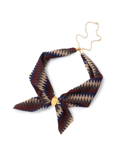 Geometric Print Chain Linked Neckerchief