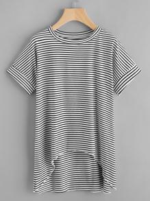 Tee-shirt trapèze à rayures
