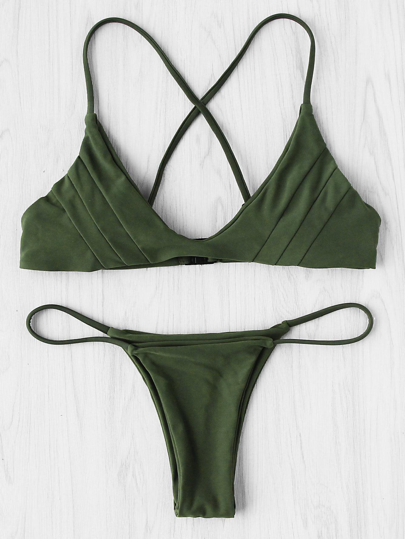 Фото Cross Back Seam Bikini Set. Купить с доставкой