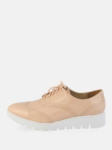 Tie Up Shiny Oxfords NATURAL