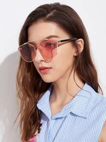 Top Bar Flat Lens Sunglasses