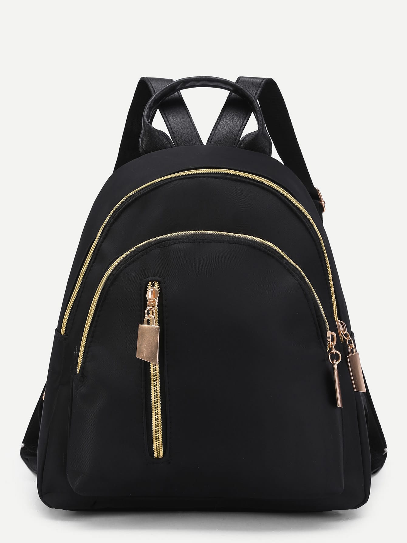 Фото Vertical Zipper Detail Nylon Backpack. Купить с доставкой