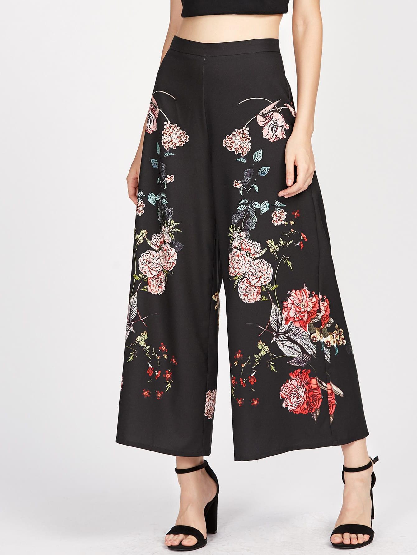 Купить Модные широкие брюки с принтом, Lorenaa, SheIn