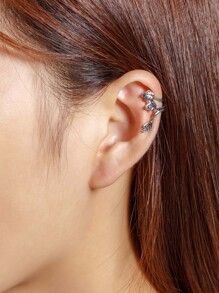 Metal Three Leaves Ear Cuff 1pcs