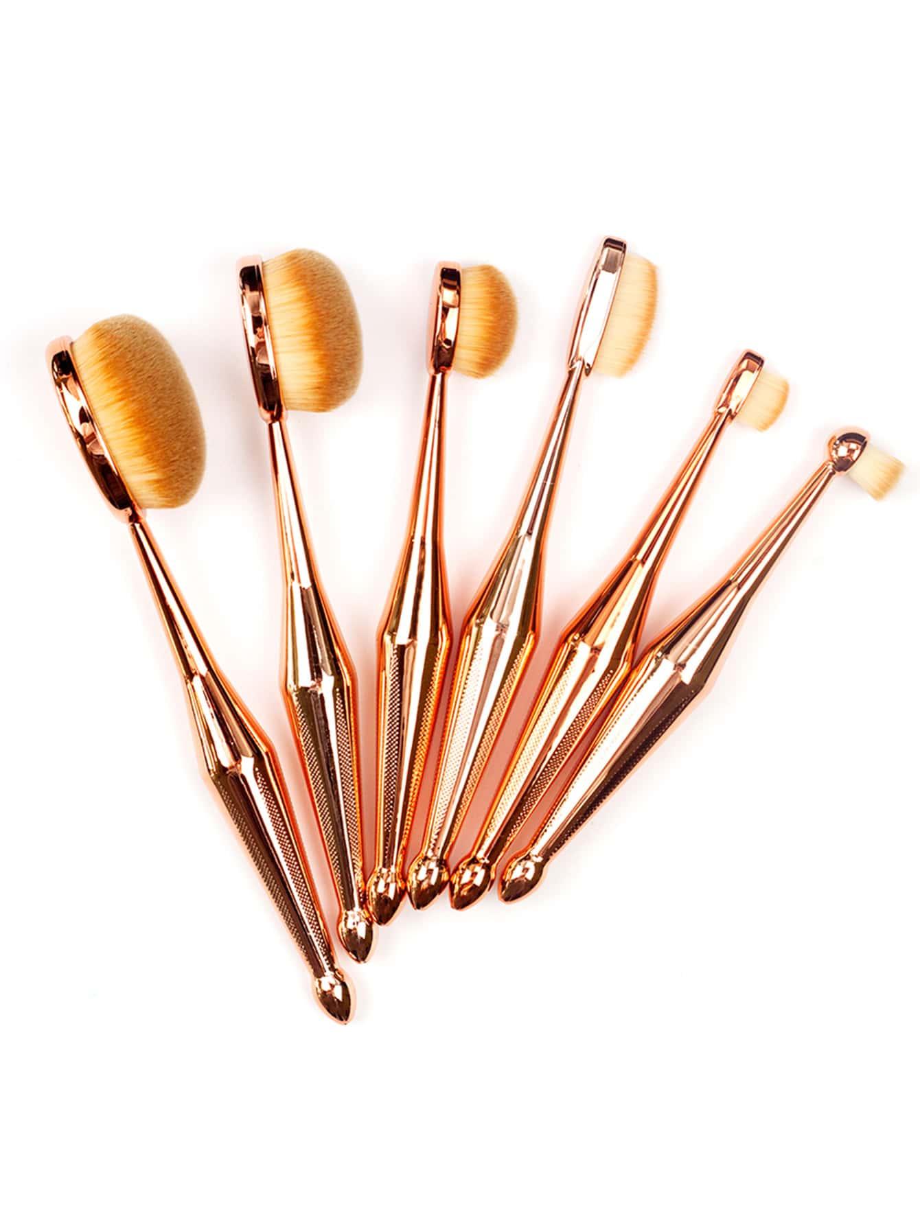Фото Metallic Multipurpose Makeup Brush 6pcs. Купить с доставкой