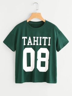 Drop Shoulder Varsity T-shirt