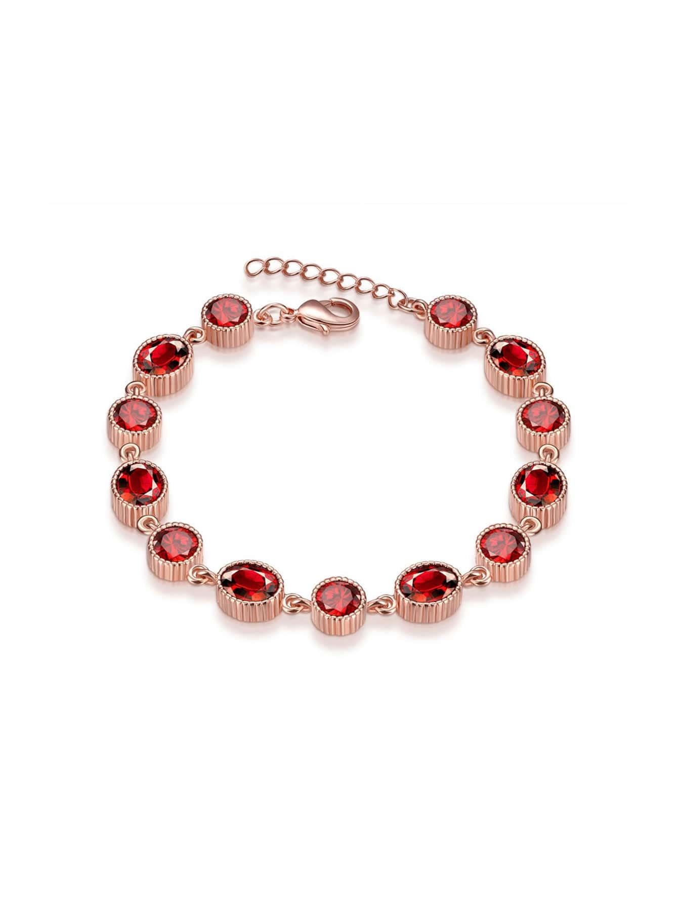 Фото Crystal Embellished Rose Gold Plated Bracelet. Купить с доставкой
