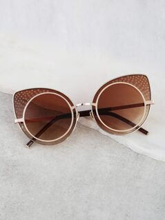Circular Cat Eye Sunnies MOCHA