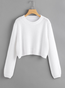 Loose Fit Crop Jumper