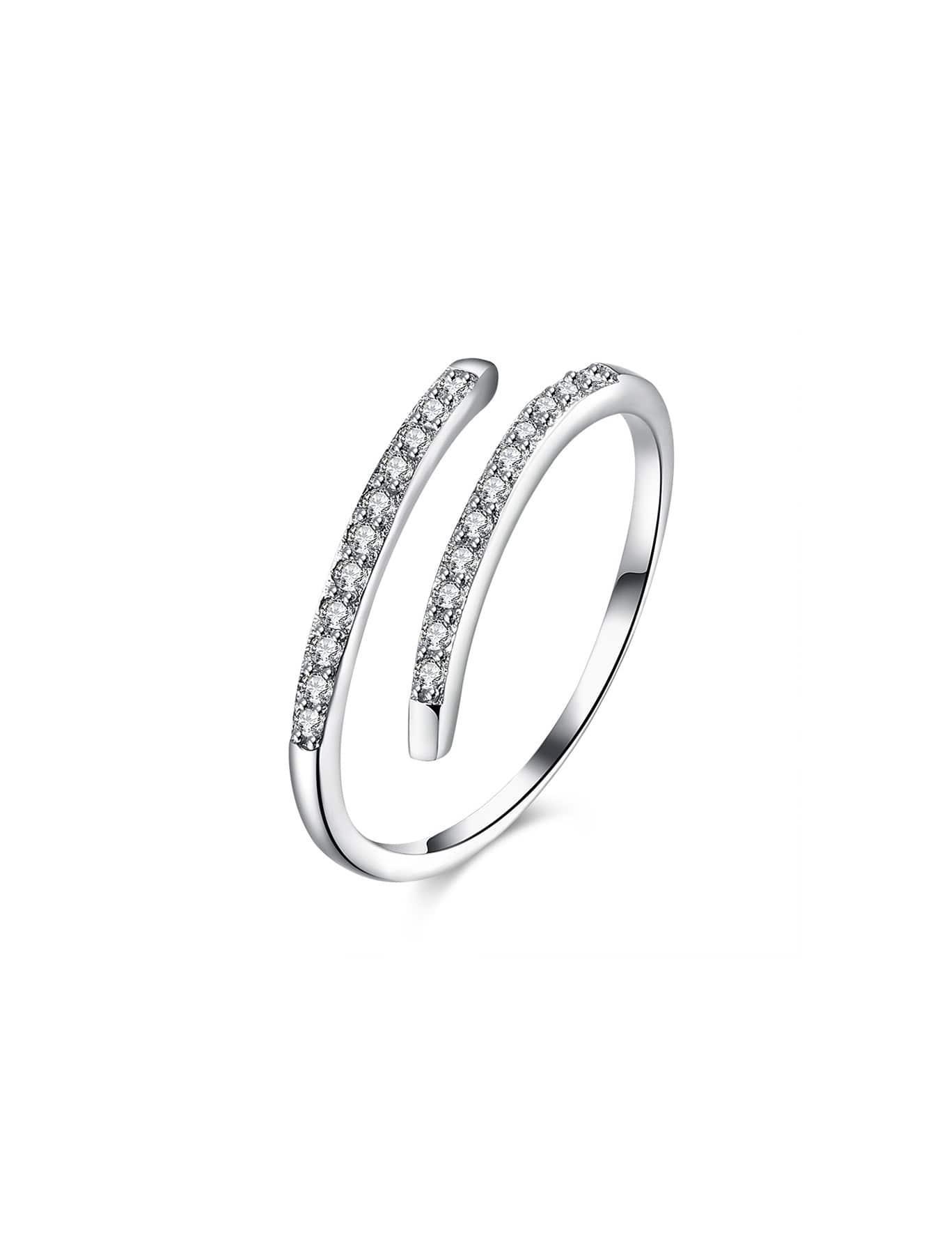 Rhinestone Detail Adjustable Ring