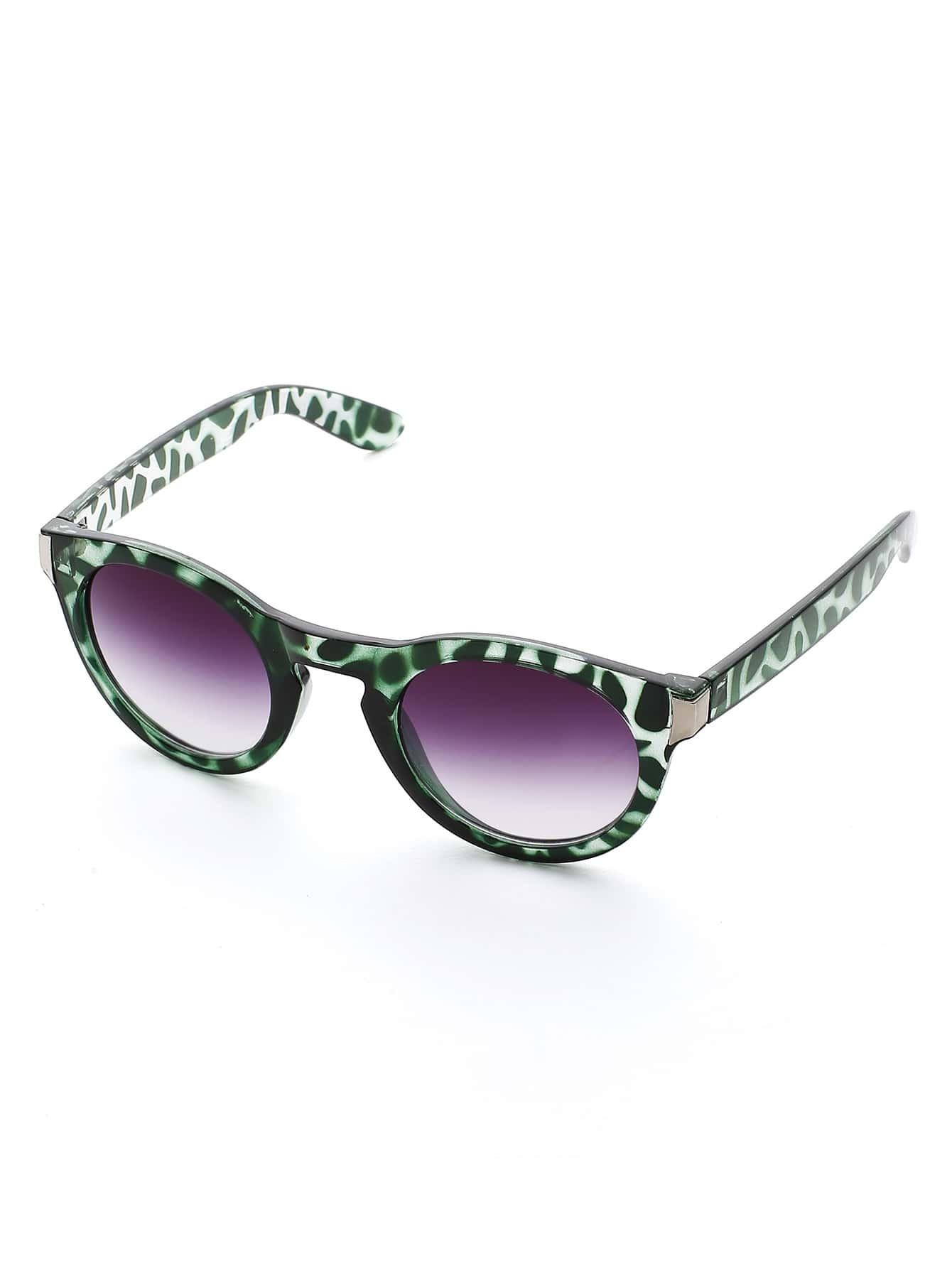 Фото Contrast Frame Ombre Lens Sunglasses. Купить с доставкой