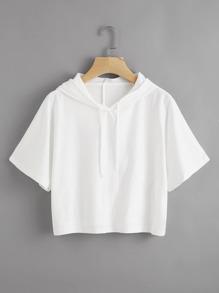Kapuzen T-Shirt mit Gummiband