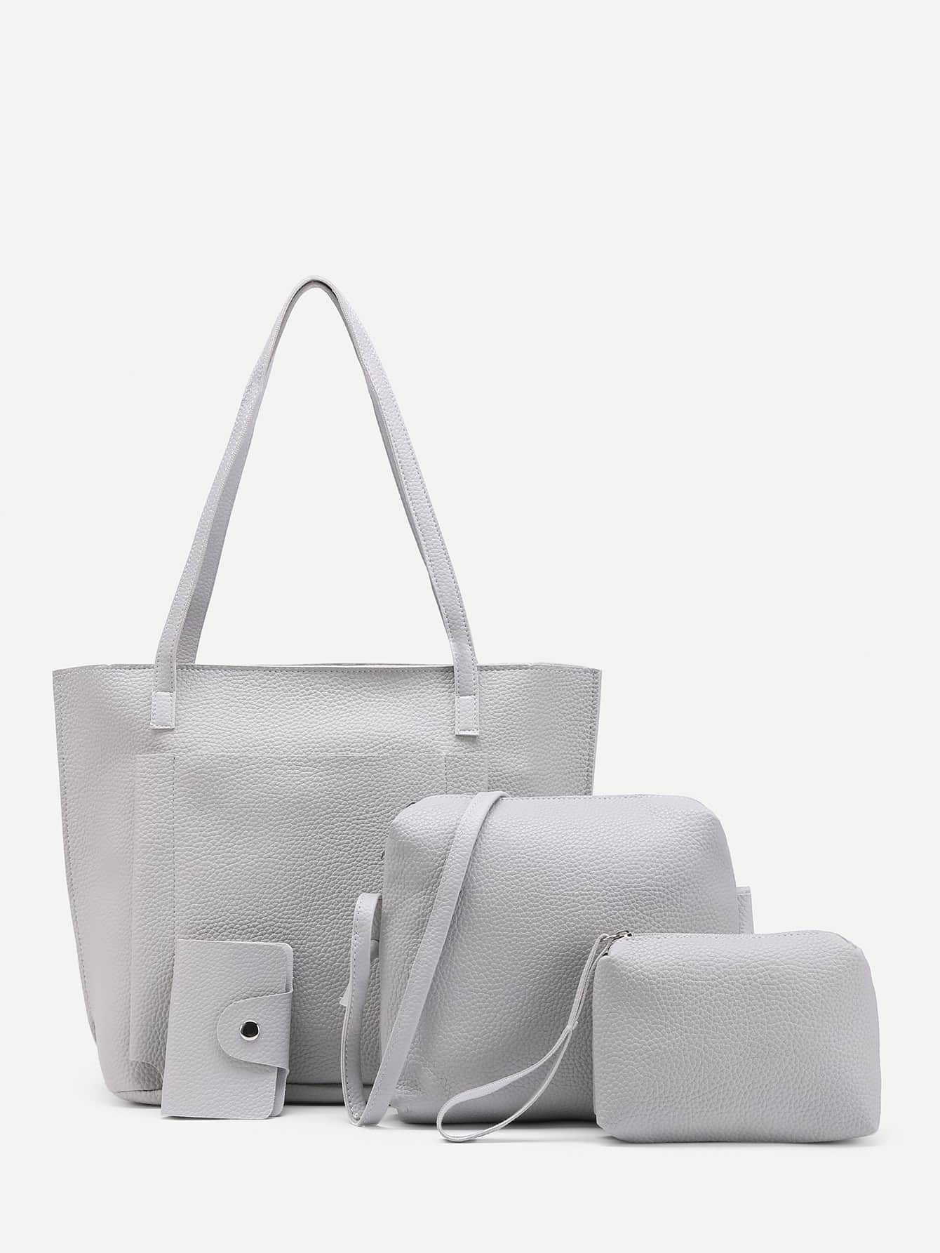 Фото Faux Leather Bag Set 4pcs. Купить с доставкой
