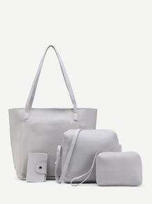 4 piezas de bolso de cuero sintético