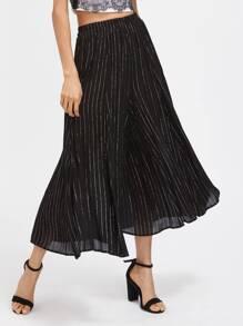 Pantalons taille élastique à rayures avec une culotte