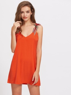 Applique Embellished Cami Dress