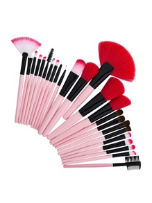 Fan Shaped Professional Makeup Brush 24pcs