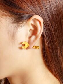 Wrench Design Stud Earring 1pcs