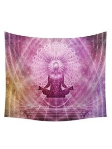 Buddhism & Galaxy Print Tapestry