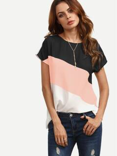 Button Keyhole Cut And Sew Top