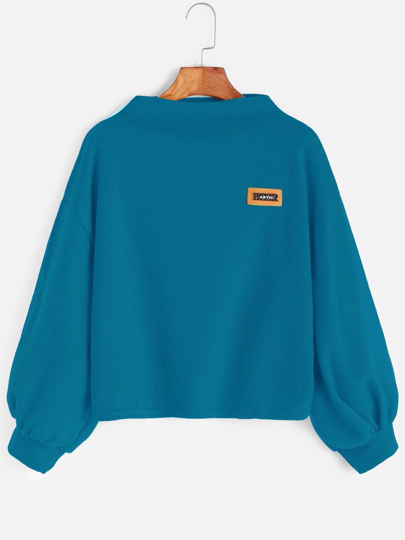 Фото Bishop Sleeve Patch Sweatshirt. Купить с доставкой