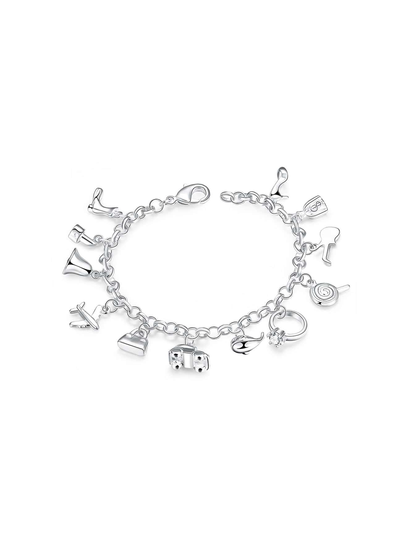 Фото Ring And Car Detail Link Bracelet. Купить с доставкой