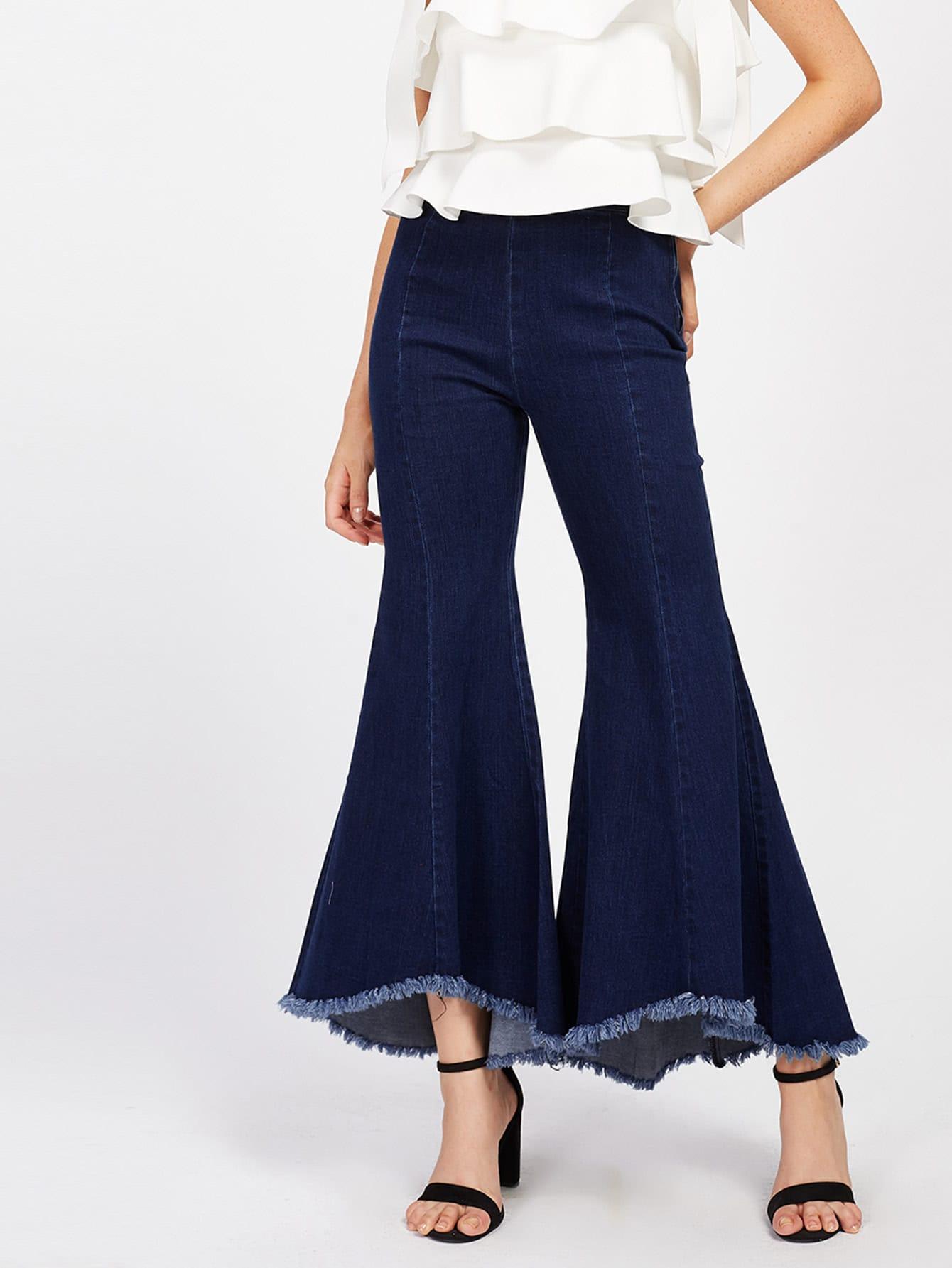 Фото Raw Hem Bell-Bottoms Jeans. Купить с доставкой