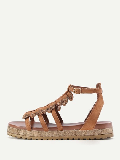 Fringe Detail Beach Sandals