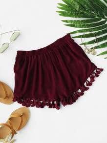 Shorts con borlas