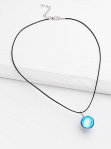 Glass Ball Design Luminous Pendant Necklace