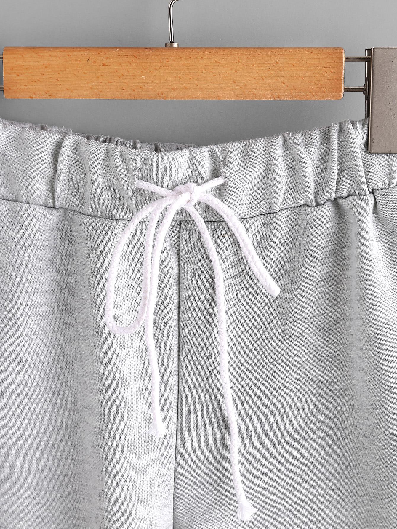 Heathered Knit Cuffed Shorts
