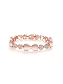 Bracelet en strass design de nœud papillon et cœur