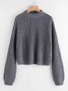 Drop Shoulder Chunky Knit Jumper