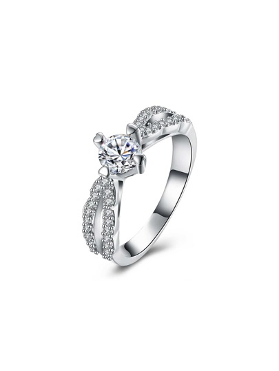 Faux Diamond Decorated Delicate Ring