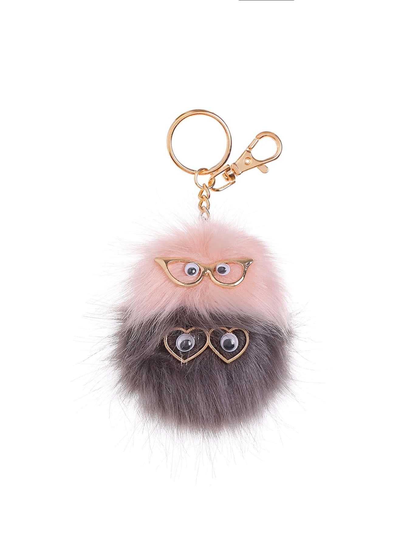 Фото Owl Design Keychain With Pom Pom. Купить с доставкой