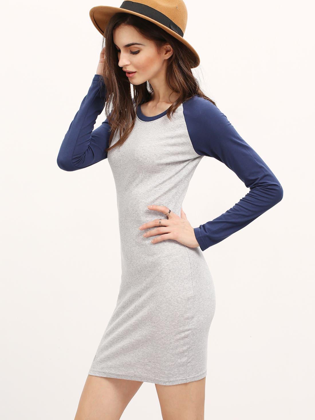 Colorblock Bodycon Dress